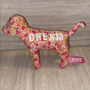 PINK Victoria's Secret Stuffed Floral Dog DREAM